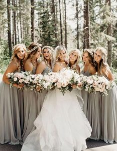 stunning neutral colored bridesmaid dresses