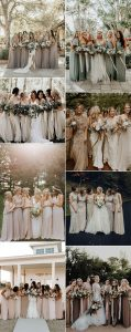 stunning neutral colors bridesmaid dresses