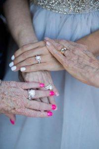 touching getting ready wedding photos