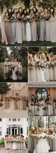 trending neutral colors bridesmaid dresses