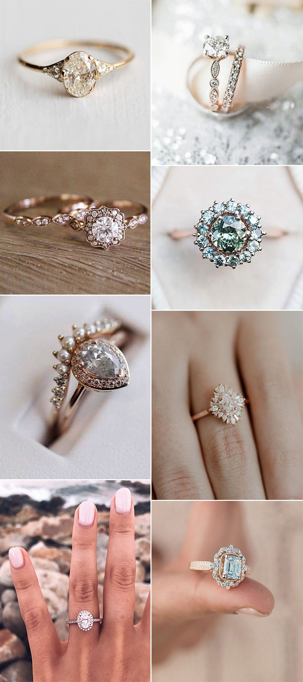 trending vintage diamond wedding engagement rings