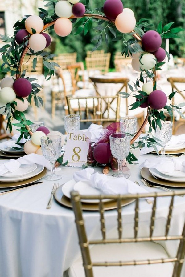 unique balloons wedding centerpiece ideas