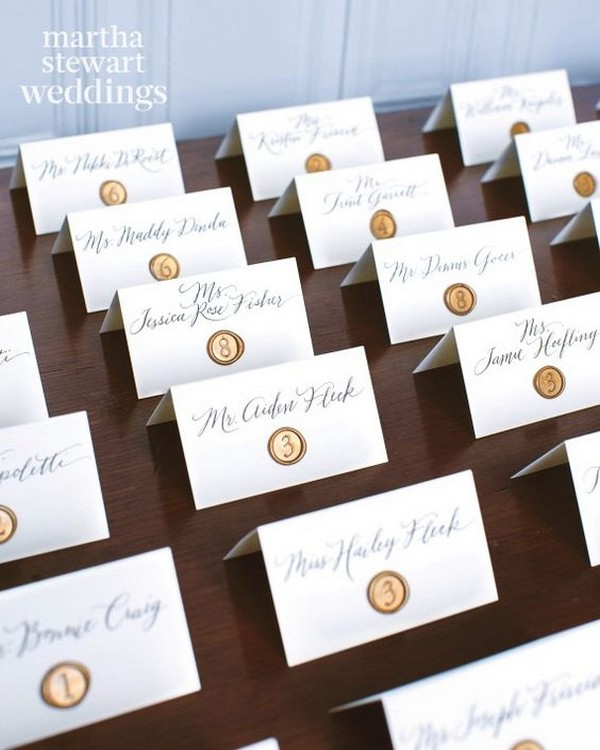 vintage calligraphy wedding escort card ideas