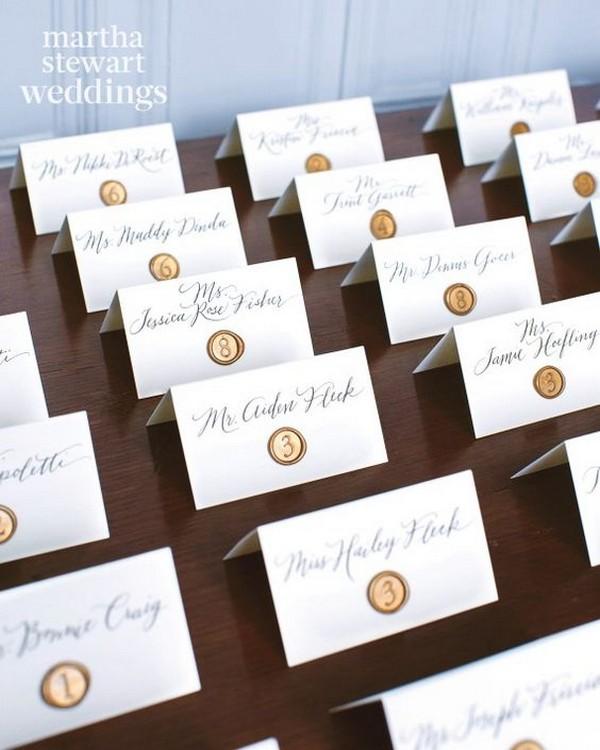vintage calligraphy wedding escort card ideas