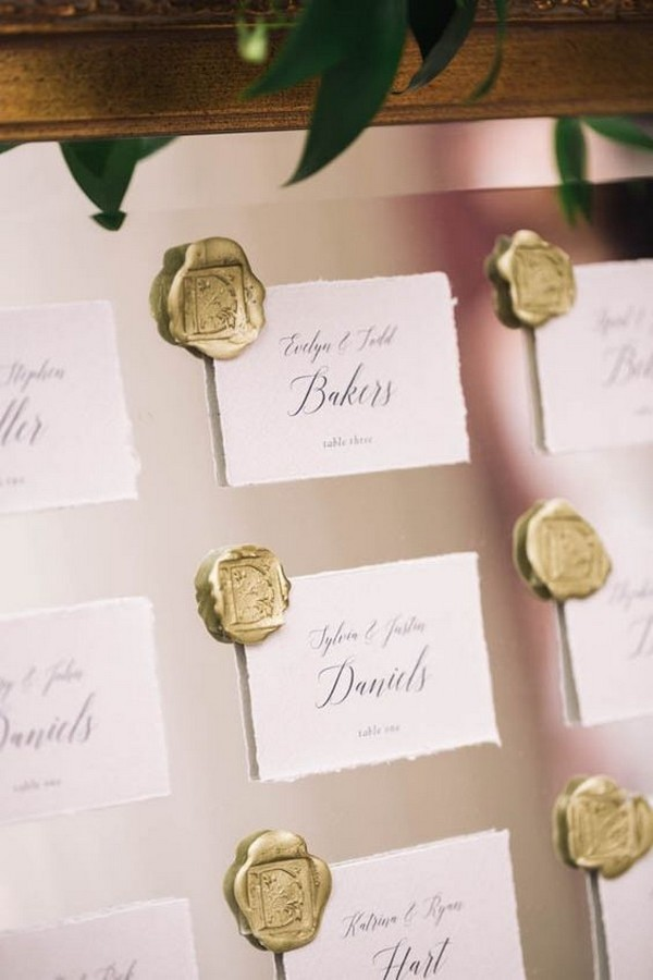 vintage elegant wedding seating chart display ideas