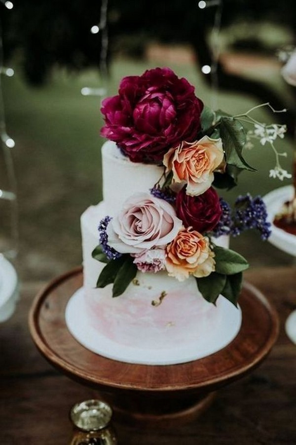 vintage floral wedding cake ideas