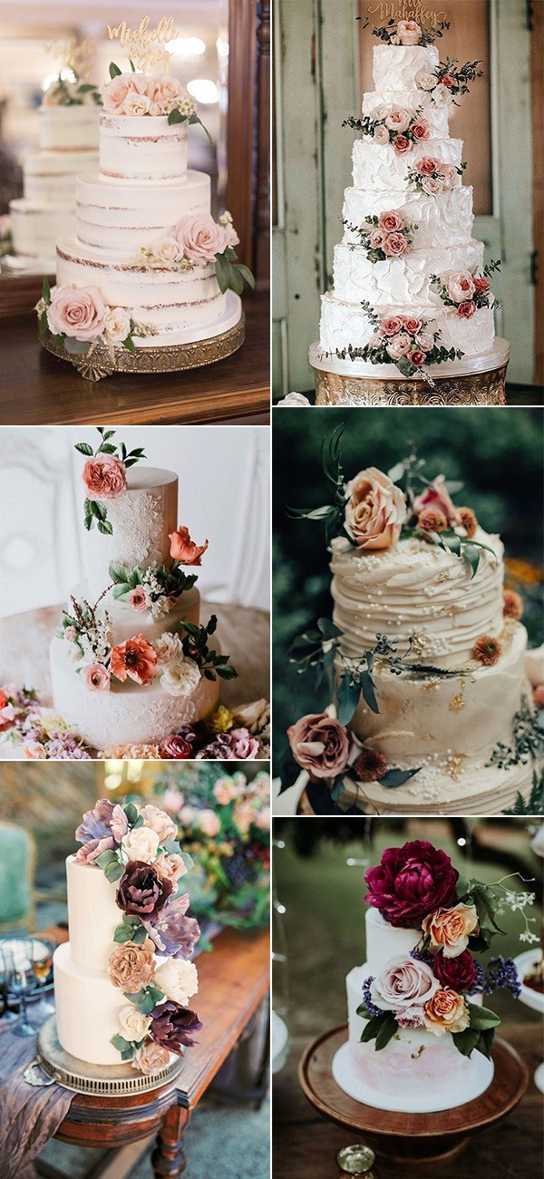 vintage floral wedding cakes for 2019
