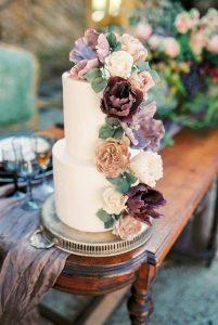 vintage inspired floral wedding cake