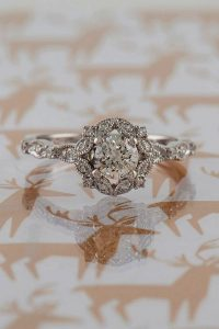 vintage round cut engagement ring