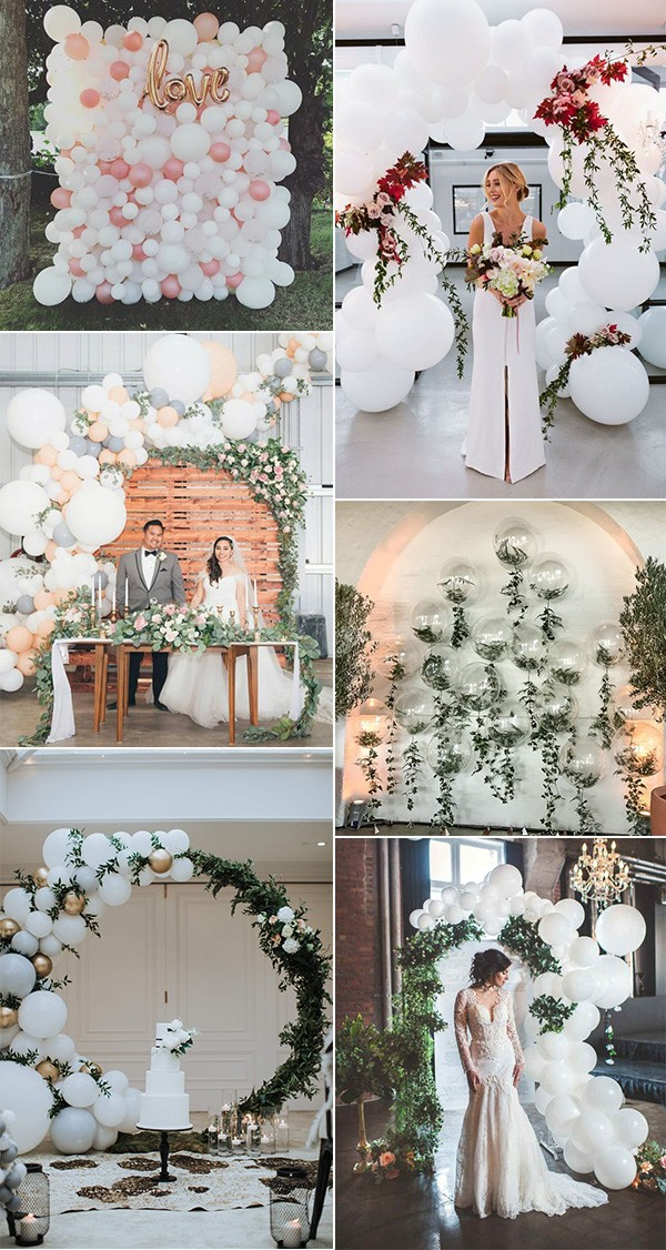 wedding backdrops and arches with balloons
