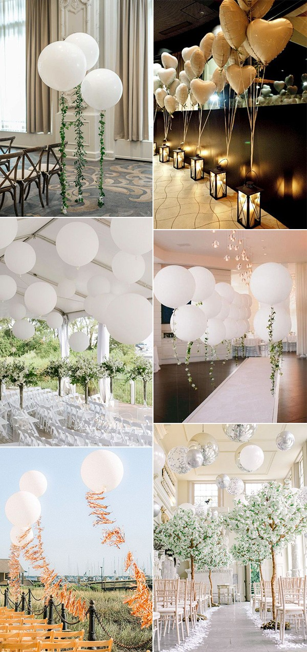 wedding ceremony decoration ideas with balloons