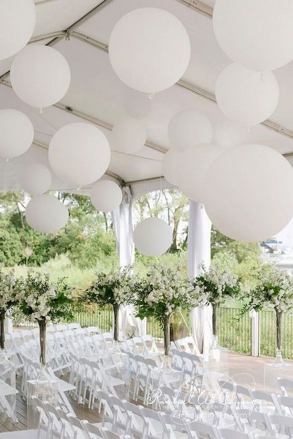wedding decoration hall for ceremony with balloons