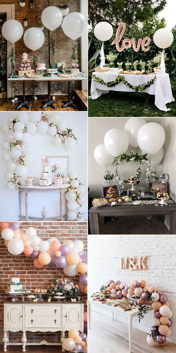 wedding dessert table ideas with balloons