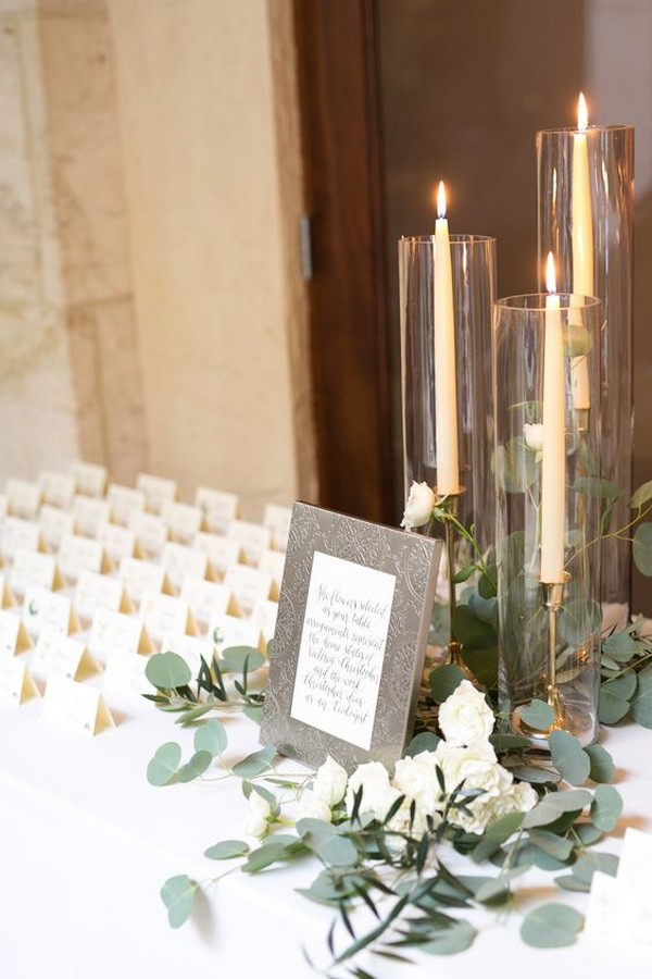 wedding escort card table decoration ideas