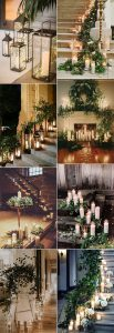 winter wedding decoration ideas with lights and candles