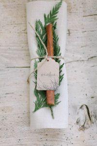 winter wedding place setting ideas