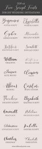 20 free script fonts for diy wedding invitations