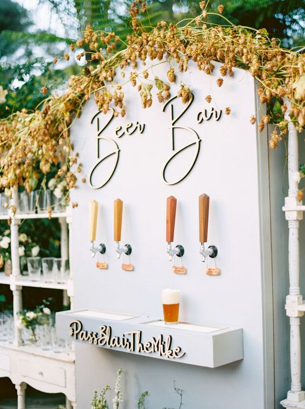 beer bar wedding ideas for reception