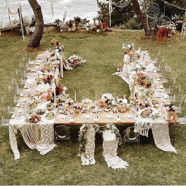 boho small wedding reception ideas