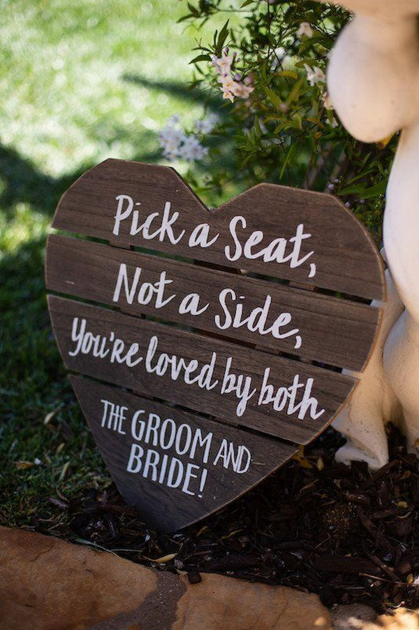 budget friendly small wedding ceremony sign ideas
