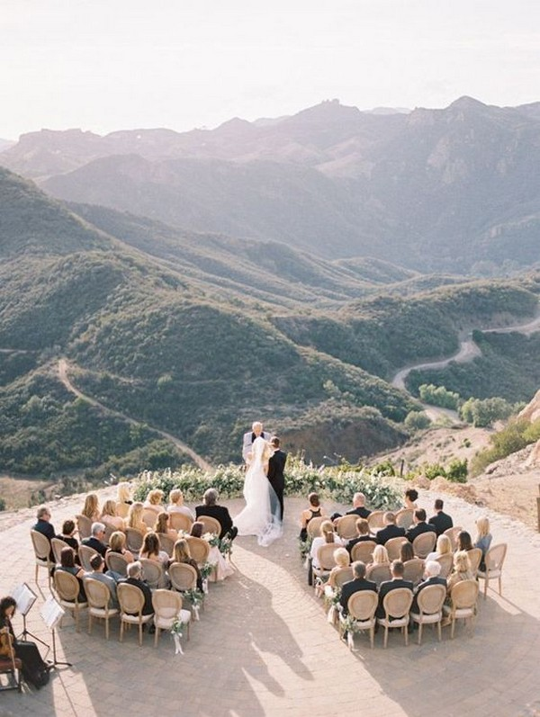 intimate small outdoor wedding ceremony ideas