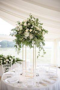modern tall wedding centerpiece