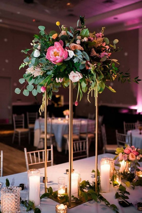 modern tall wedding centerpiece ideas
