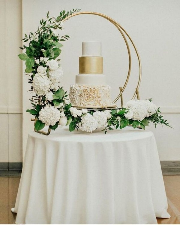 Wedding Cupcake Stand Ideas: 10 Gorgeous Wedding Cakes With Hoop Stand And Decorations