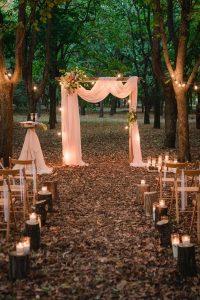 outdoor romantic fall wedding ceremony ideas
