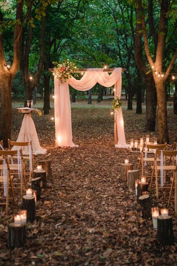 outdoor romantic fall wedding ceremony ideas