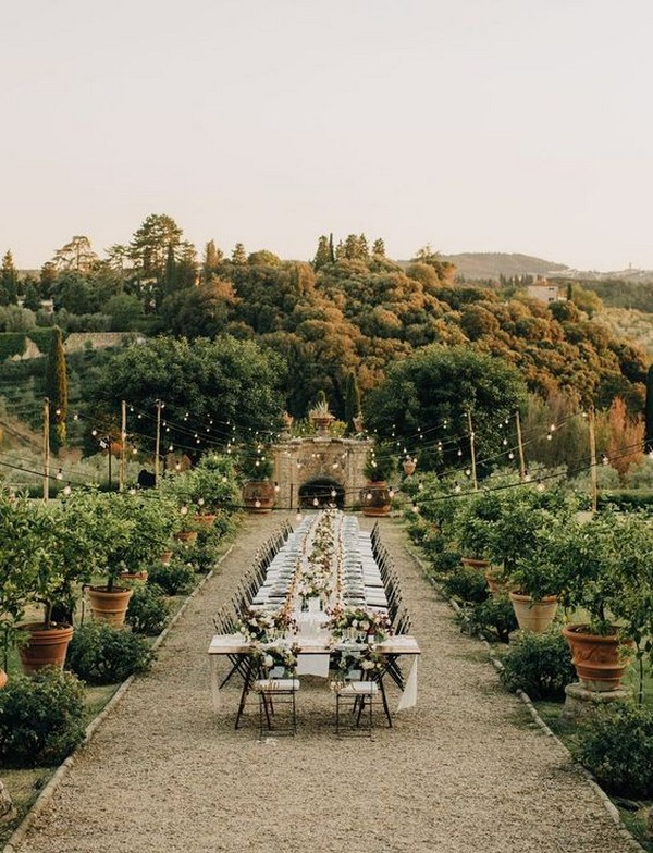 outdoor small wedding reception ideas