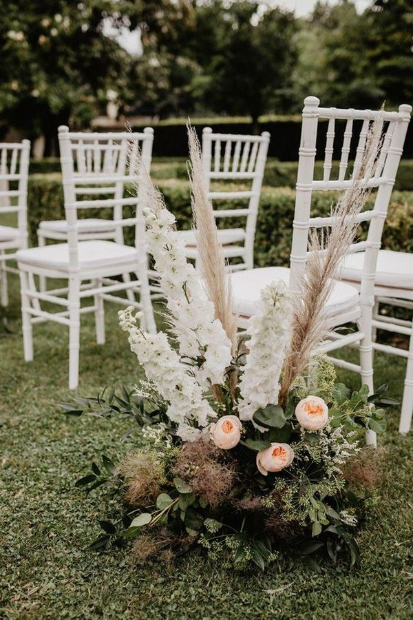outdoor wedding ceremony aisle decoration ideas