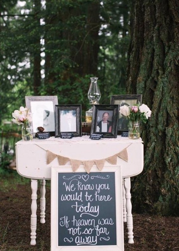 outdoor wedding ideas to remember loved ones