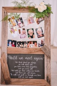 photo display to remember loved ones wedding ideas