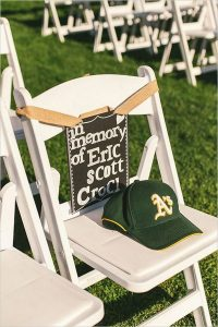 reserved seats to honor loved ones wedding ideas