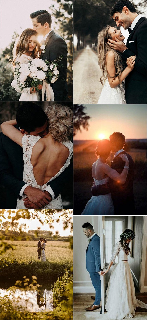 romantic bride and groom wedding photos
