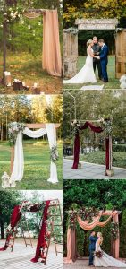 rustic chic fall outdoor wedding arches