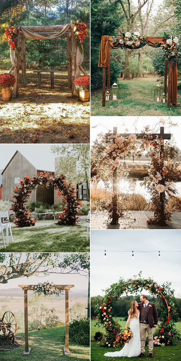 rustic fall wedding arches for 2019