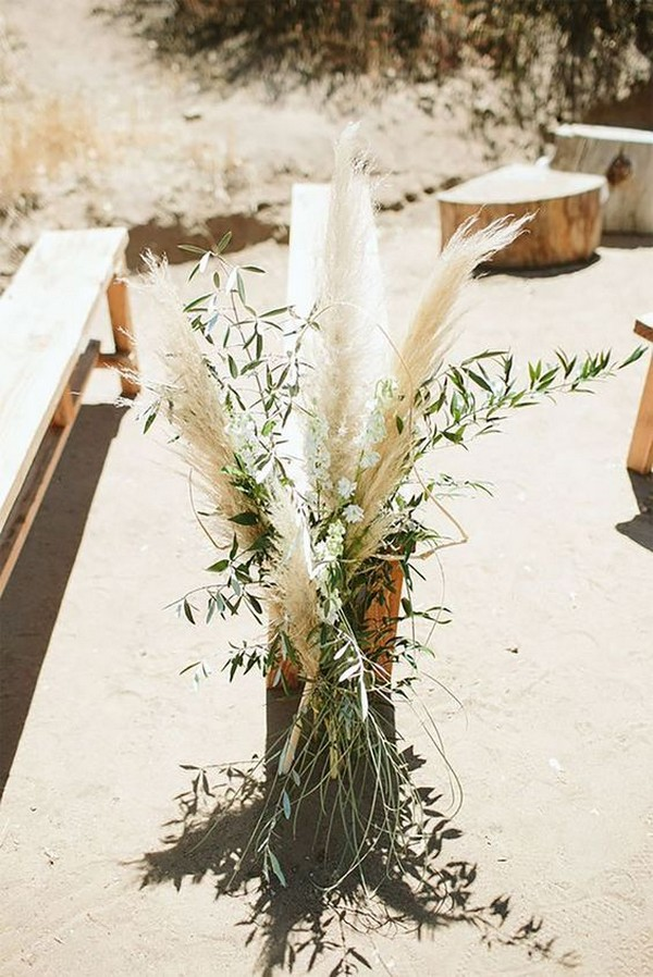 simple rustic outdoor wedding aisle decoration ideas
