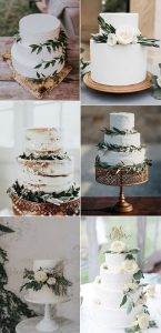simple sage green wedding cakes