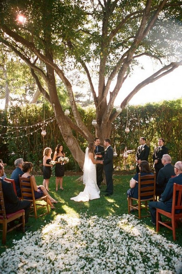 small outdoor wedding ceremony ideas