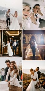 sweet bride and groom wedding photos