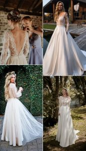 timeless lace wedding dresses with long sleeves