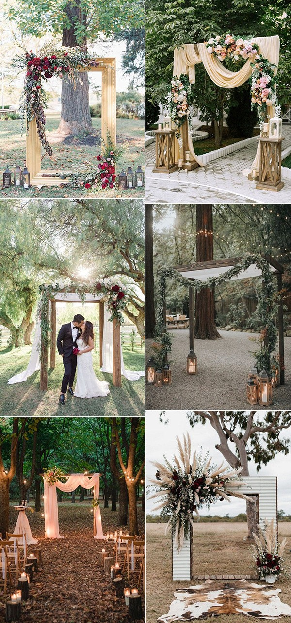 trending outdoor fall wedding arches