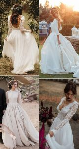 trending wedding dresses with long sleeves for fall and winter