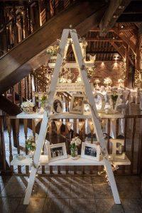 vintage family photo display wedding ideas