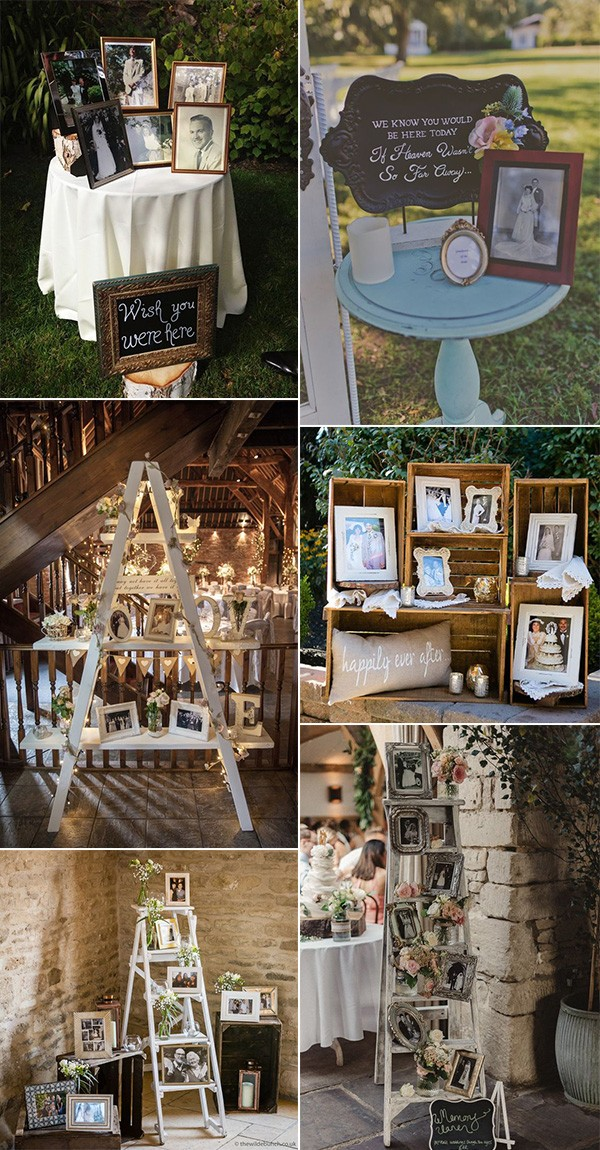 vintage rustic wedding ideas to remember loved ones