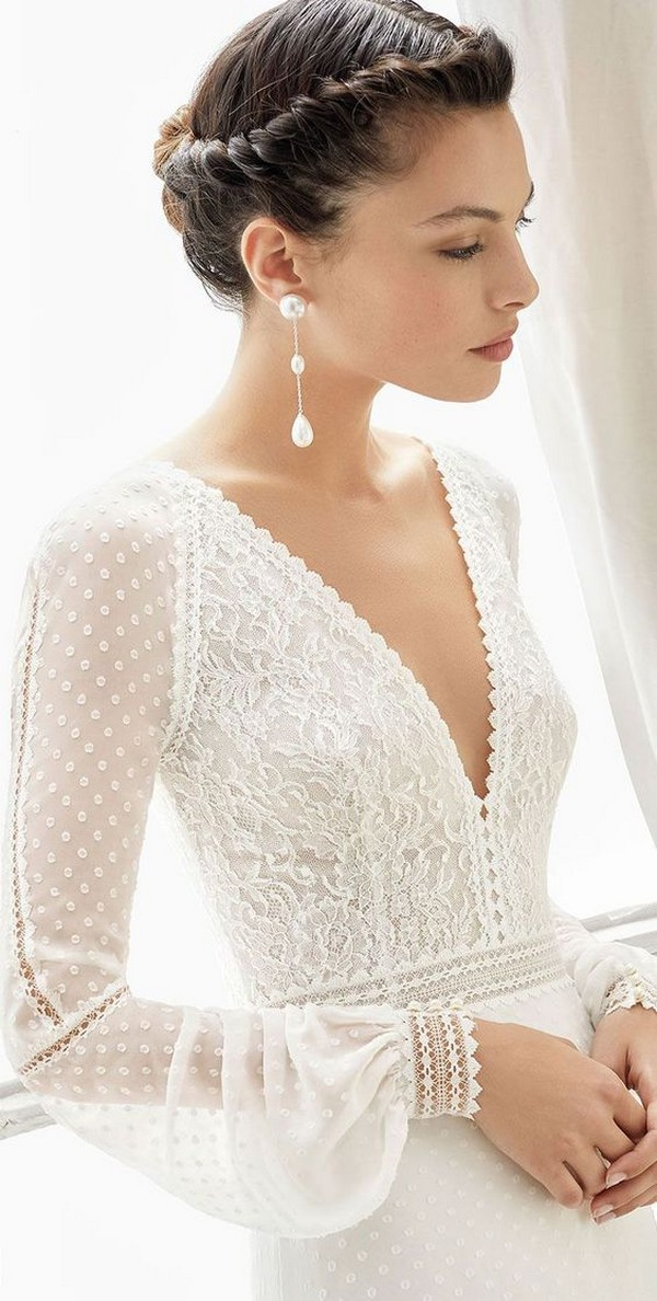 vintage wedding dress with long sleeves