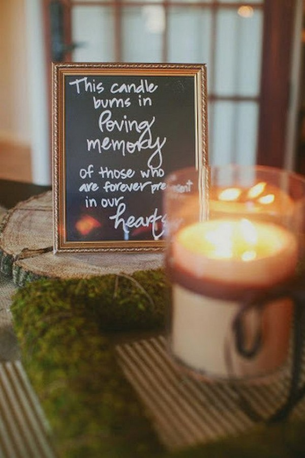 wedding ideas to remember loved ones