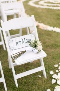 wedding reserved seats for loved ones